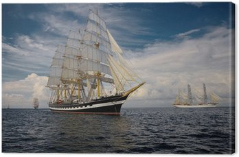 Canvas Print Sailing vessel. Collection of ships and yachts