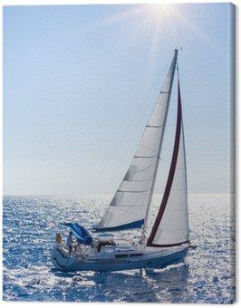 Canvas Print Sailing yacht in Lefkada Greece