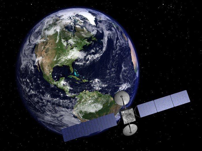 satellite et terre