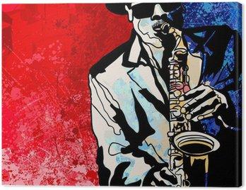 Canvas Print Saxophone player