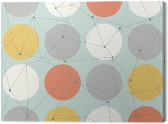 Canvas Print scandinavian geometric modern seamless pattern