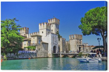 Canvas Print scenery of Italy series - Sirmione. Lago di Garda