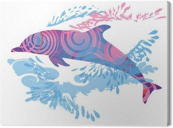 Canvas Print Schattenhklecks Delfin