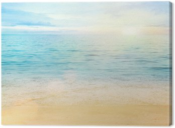 Canvas Print Sea and sand background