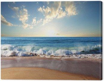 Canvas Print Sea sunset