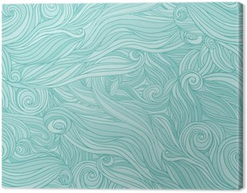 Canvas Print Seamless abstract pattern, tangle wavy hair background
