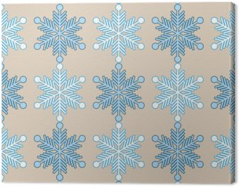 Seamless background with snowflakes. Print. Repeating background. Cloth design, wallpaper. Canvas Print