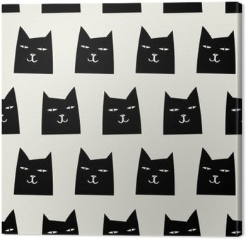 seamless cat pattern Canvas Print