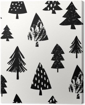 Seamless Christmas Pattern Canvas Print