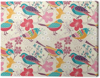 Seamless floral pattern Canvas Print