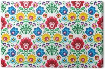 Canvas Print Seamless floral polish pattern - ethnic background