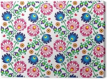 Canvas Print Seamless folk Polish pattern - wzor lowicki