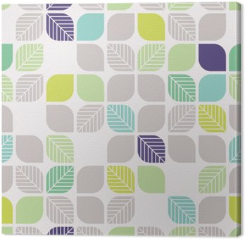 seamless geometric pattern with leaves Canvas Print