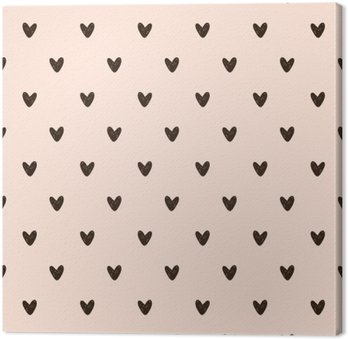 seamless heart pattern Canvas Print
