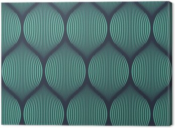 Canvas Print Seamless neon blue optical illusion woven pattern vector