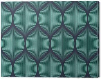 Canvas Print Seamless neon blue optical illusion woven pattern vector