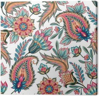 Seamless Paisley Pattern Canvas Print