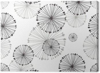 seamless pattern of dandelion