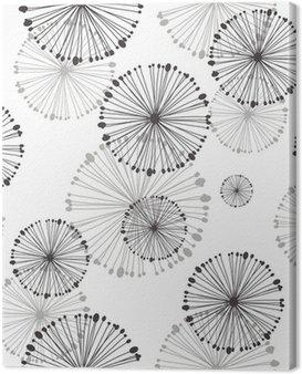 seamless pattern of dandelion Canvas Print