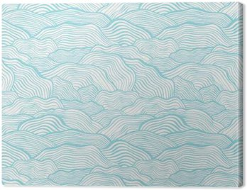 Canvas Print Seamless pattern with wavy scale texture