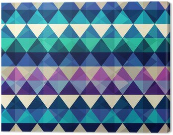 Canvas Print seamless retro background