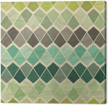 Seamless retro geometric pattern. Canvas Print