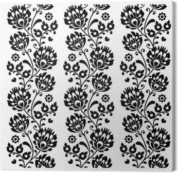 Seamless traditional folk polish pattern in black
