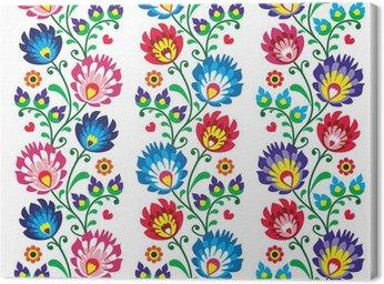 Canvas Print Seamless traditional folk polish pattern - seamless embroidery