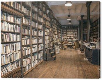 Canvas Print Second-hand bookshop