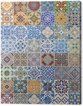 Canvas Print Set of 48 ceramic tiles patterns