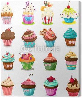 Canvas Print Set of cupcake