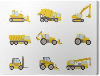 Canvas Print set of heavy equipment icons