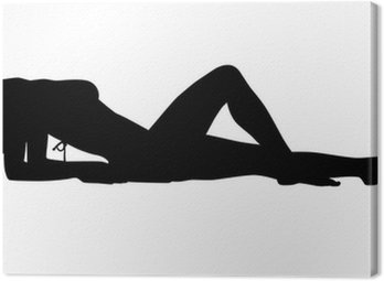 Canvas Print Sexy woman silhouette
