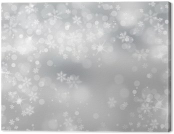 Silver snowflake with sparkle background Canvas Print