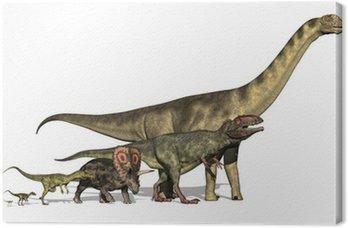Six Dinosaurs Huge to Tiny