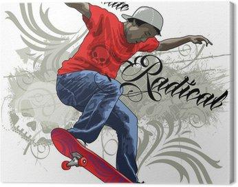 Canvas Print Skate Radical