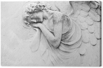 sleeping angel - antique decoration on tomb
