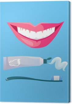 Smile with White Tooth Canvas Print