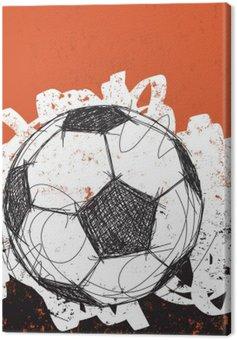 Canvas Print Soccer ball background