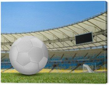 Canvas Print Soccer ball on the soccer field