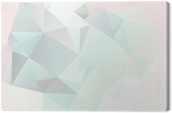 soft pastel abstract geometric background with gradients vector Canvas Print