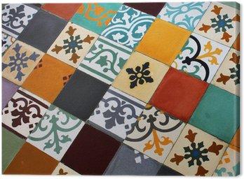 Canvas Print Sol en carreaux de ciment colorés