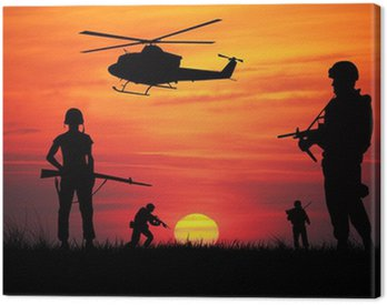 Canvas Print soldiers at war