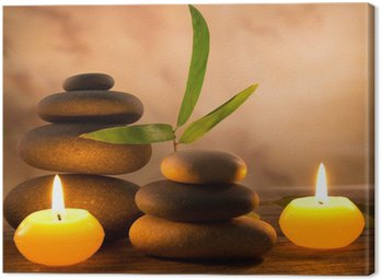 Canvas Print Spa still life with aromatic candles
