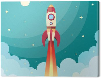 Canvas Print Space rocket print