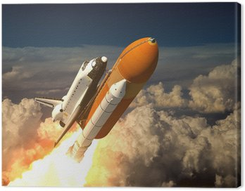 Canvas Print Space Shuttle In The Clouds