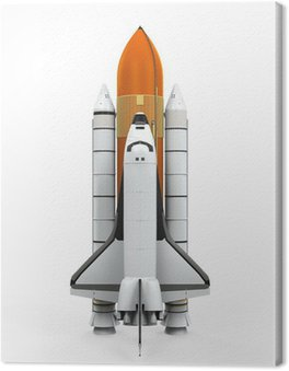 Canvas Print Space Shuttle Isolated