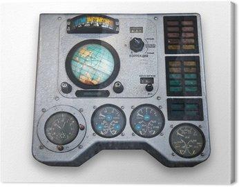 Canvas Print Spaceship control panel