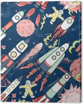 spaceship seamless pattern