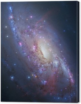 Canvas Print Spiral galaxy in deep space. Elements of image furnished by NASA
